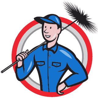 Chimney Sweep with brush