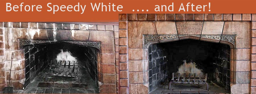 Speedy White Cleaning Products for fireplace, hearth and home.