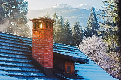 A chimney in the mountains