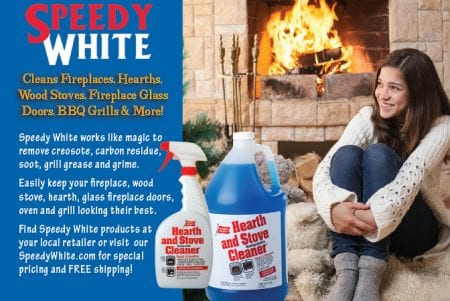 Speedy White The Best Fireplace Glass Stove And Grill Cleaner